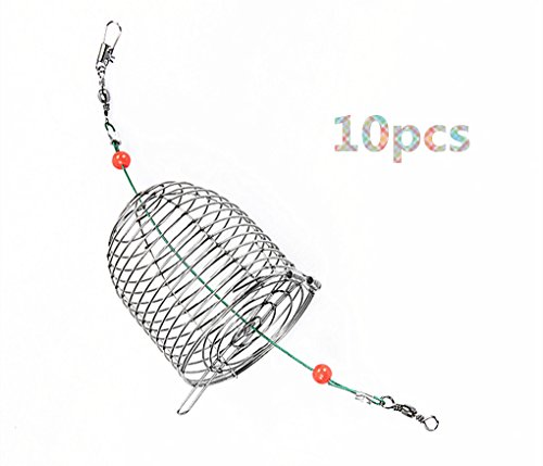 Toasis Small Fishing Bait Cage Feeder Basket Carp Fishing Tackle Pack of 10 (Small)