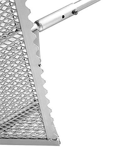 Exact Design Sand Spike with Bait Box Anodized Aluminum w//Sand Flea Rake Holder