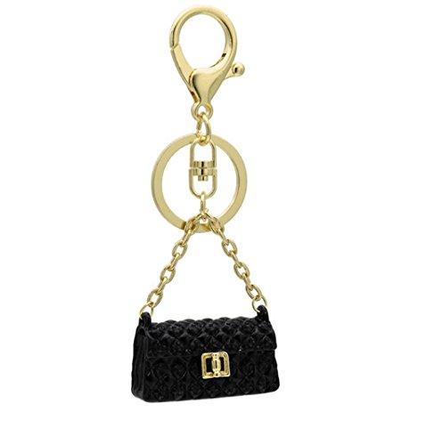 (Handbag Modelling Key Chain Purse Pendant Handbag Charm (Black))
