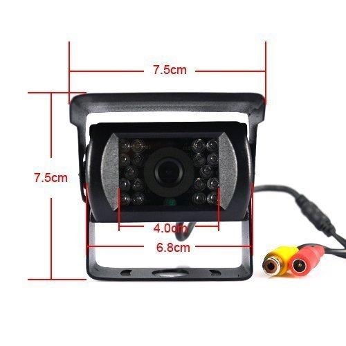 well-wreapped BW 7 pouce LED moniteur en couleurs+caméra vue arrivé étanche caméra vue nuit pour Bus Truck 12V - 24V