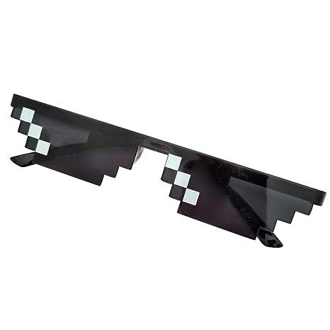 Domeilleur - Gafas de Sol con píxeles para Hombre y Mujer, para Fiesta, con Mosaico, Estilo Vintage, pequeño Individual