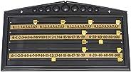 BESPORTBLE Snooker Scoreboard International Billiard Stained Score Board Game Board Supplies