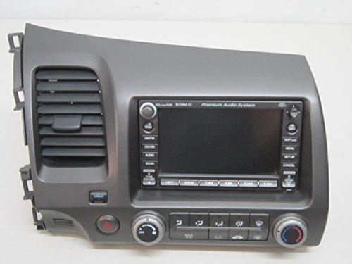 06 07 08 09 HONDA CIVIC DISPLAY SCREEN NAVIGATION RADIO CLIMATE CONTROL BEZEL
