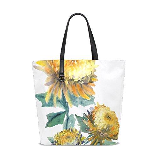 Mnsruu tote-001 - Bolso de tela de Piel para mujer multicolor talla única