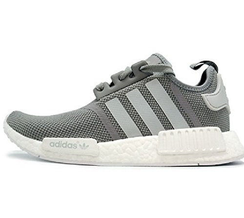 Amazon.com | Adidas NMD R1 Junior Grey White GS S80204 US 3.5Y | Running
