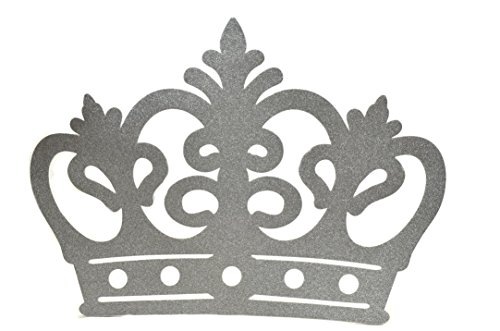 Crown Glitter Foam Banner, Backdrop Decoration XXL - Silver (Decoration Wall Crown)