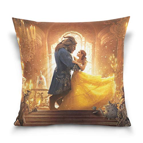 (KALAZANA Emna Watsom Throw Pillowcase Famous Actress Decorative Cushion Cover Square Bed Pillow Case Cover (16 x 16 inch) Twin Sides Print)
