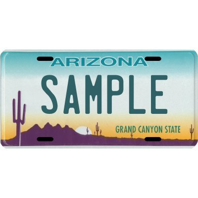 (Your Name Your State Custom Metal License Plate - Choose from All 50 States (Arizona, 6
