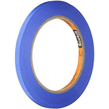 """3M 2080 Painters' Masking Tape, 0.25"""" width x 60yd length (1 roll)"""