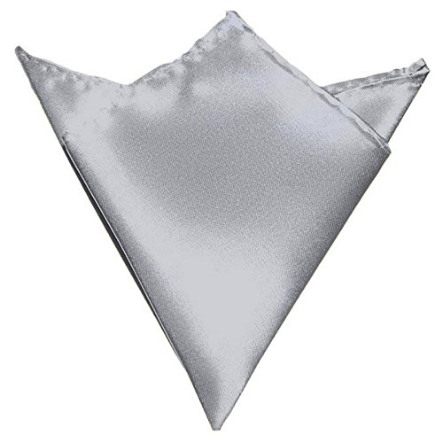 GASSANI Light Silver Gray Hanky Pocket Square Handkerchief Pocket Hanky by GASSANI