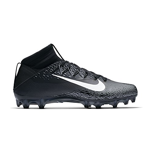 NIKE Men's Vapor Untouchable 2 Football Cleat Black/White/Metallic Silver/Anthracite Size 9 M US
