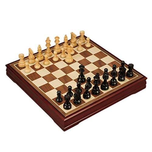 (International Wooden Chess Board Creative Wooden Chess Piece Kids Intellectually Development Learn Toys Storage Checkers Chess (Color : C))