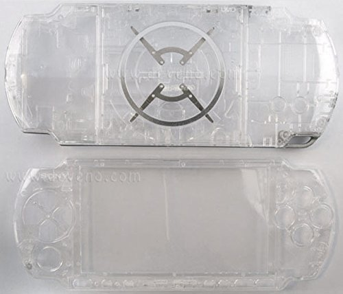 (Clear Transparent PSP 3000 Series Full Shell Cover Housing Replacement with Button Set)
