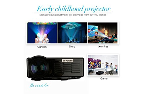1080P Mini LED Projector Multimedia Video Projecto...