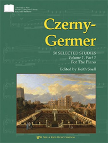 GP445 - Czerny-Germer 50 Selected Studies Volume 1 Part 1 For The Piano