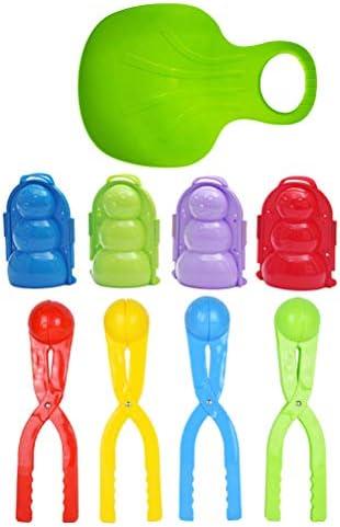 LIOOBO 子供屋外雪合戦のための9個の雪玉メーカー金型のおもちゃ