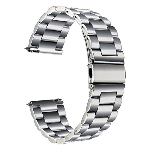 TRUMiRR kompatibel mit Nokia Steel HR 36mm Armband Metall, 18mm Quick Release Uhrenarmband Edelstahl Metall Ersatz Band für Huawei Uhr 1/Fit Ehre, ASUS Zenwatch 2 Damen 1.45 '', Fossil Q Tailor