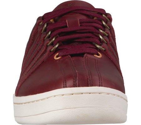 K-SWISS Sneakers cuero auténtico Hombre burdeos