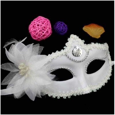 Stylish White Princess Masquerade Party Halloween -