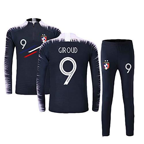 Longues Homme Maillot Ensembles De Sport Football Bleu Manches 2 Garçon Survêtement 9 Étoiles wUq0wZ