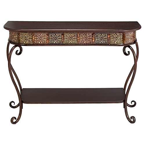 iron and wood console table - 5