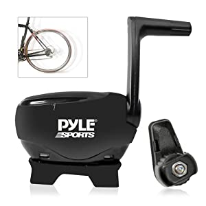 Pyle Bluetooth Fitness and Training Bicycle Sensors with Wireless Data Transmission for Measuring Speed, Cadence, RPM (PSBTC30)