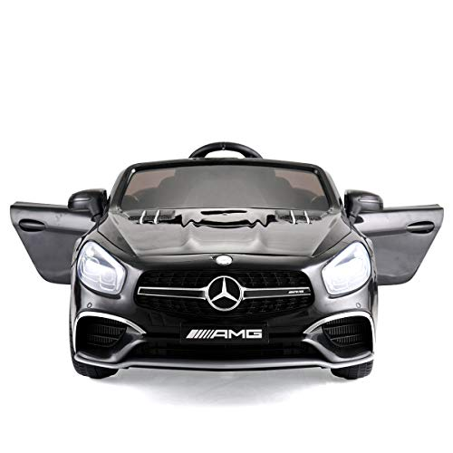 JAXPETY Mercedes Benz 12V Electric Kids Ride On Car Licensed MP3 RC Remote Control (Black) (Rc Cars Electric)