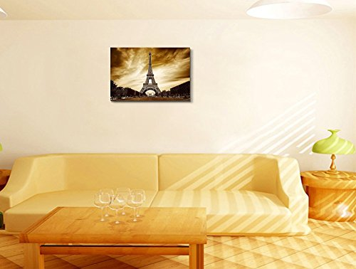 Eiffel Tower in Paris Retro Vintage Style Wall Decor