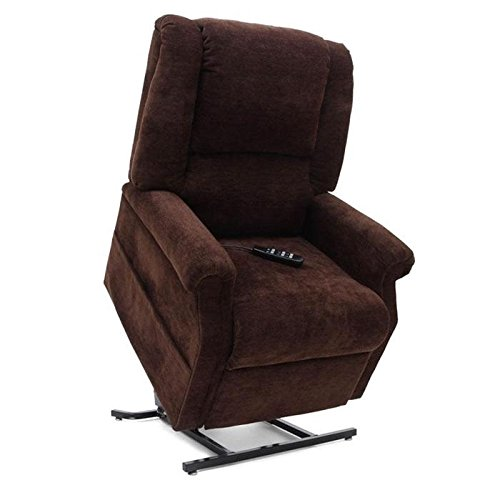 (Mega Motion Infinite Position Power Easy Comfort Lift Chair Lifting Recliner FC-101 Infinite Recline Rising Electric Chaise Lounger - Java Brown Color Fabric)