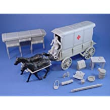 Plastic Toy Soldiers Civil War Confederate Ambulance Wagon Set with Accessories Marx Playset Type