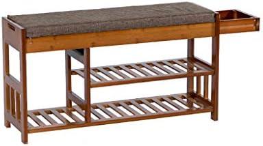 靴のストレージラック、100%竹の靴家具を格納するユニット靴オーガナイザー廊下靴ベンチ (サイズ さいず : 90 * 29 * 49cm)