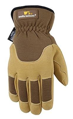 Wells Lamont 1092L Premium Suede Deerskin Work Glove, Brown/Tan
