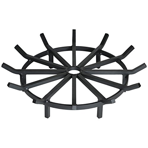 Heritage Products Super Heavy Duty Wagon Wheel Firewood Grate for Fire Pit - Made in the USA (32 Inch) ()