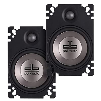 Polk Audio DB461P 4x6-Inch Coaxial Plate-Style Speakers (Pair, Black): Car Electronics