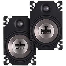 Polk Audio DB461P 4x6-Inch Coaxial Plate-Style Speakers (Pair, Black)