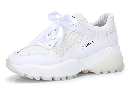 CAMEL CROWN Women's Two Wear Retro Fashion Sneakers Athletic Sports Walking Shoes Casual Platform Chunky Dad Sneakers, 6 US
