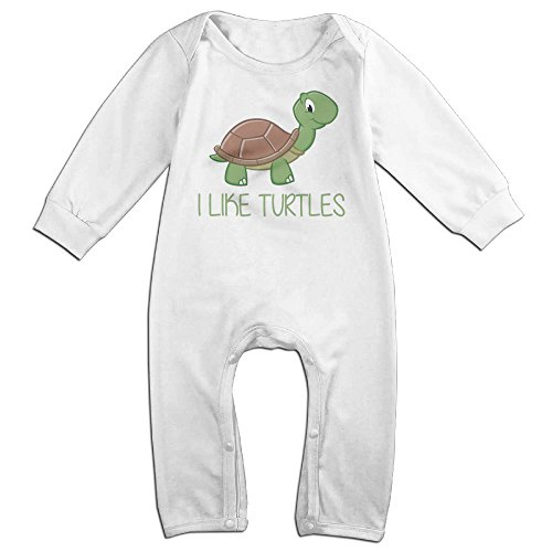 [ZhoYHHeng I Like Turtles Boy's & Girl's Long Sleeve Baby Climbing Clothes White 12 Months] (Soul Train Outfits)