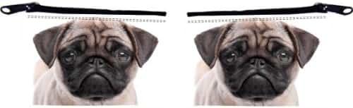 Rikki Knight Pug Puppy Dog Design Scuba Foam Coin Purse