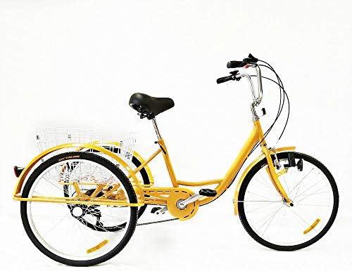 MOMOJA Triciclo para Adultos 6 Velocidades 24 Pulgadas Bicicleta ...