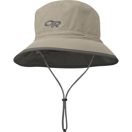 Outdoor Research Men's Sun Bucket Hat, Khaki/Dark Grey, Small