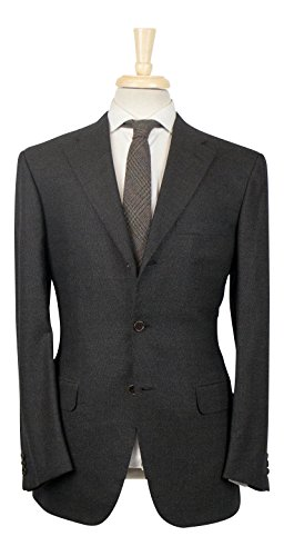 brioni Chigi 21 Taupe Brown Wool 3/2 Button Suit Size 50/40 R (Mens Suit Taupe Button 3)