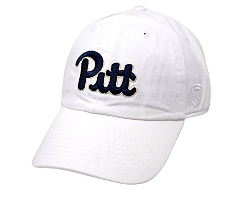 (Top of the World NCAA Pittsburgh Panthers Men's Adjustable Relaxed Fit White Icon Hat, White)