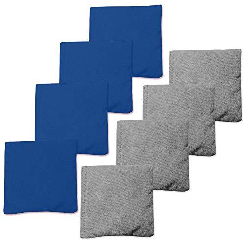 Play Platoon Weather Resistant Cornhole Bean Bags Set of 8 - Blue & Gray