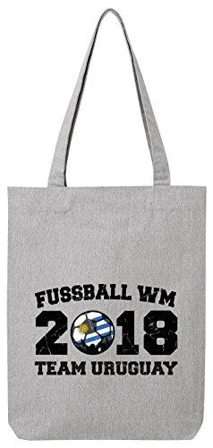 ShirtStreet Wappen Fußball WM Fanfest Gruppen Premium Bio Baumwoll Tote Bag Jutebeutel Stanley Stella Team Uruguay Heather Grey 1Yy0yHHZP