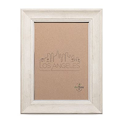8x10 Picture Frame - Matted for 5x7, Ivory Silver Frames by EcoHome - Picture Frame ready to Mount on the wall or Easel back to display on desktop. Sturdy picture frame to decorate a wall, Vertically and Horizontally. Made of recycled PS and glass. No trees were cut producing our frames!! - picture-frames, bedroom-decor, bedroom - 41KzYOnQ5RL. SS400  -