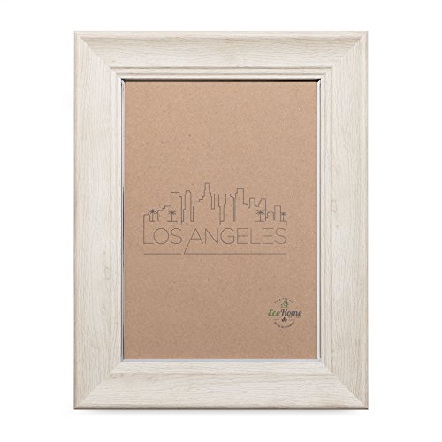 4x6 Picture Frame Barnwood Eggshell - Mount Desktop Display, Frames by EcoHome (Recycled Wood Picture Frame)
