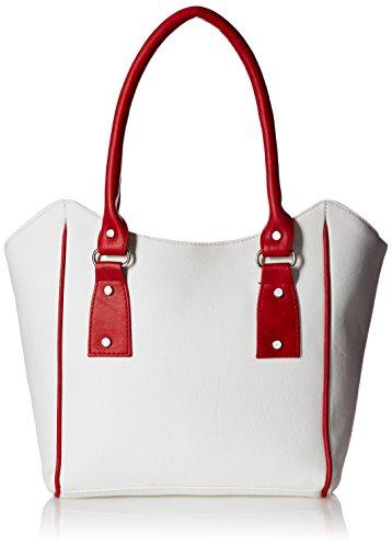 Fantosy Women's Handbag (White And Red,Fnb-358)