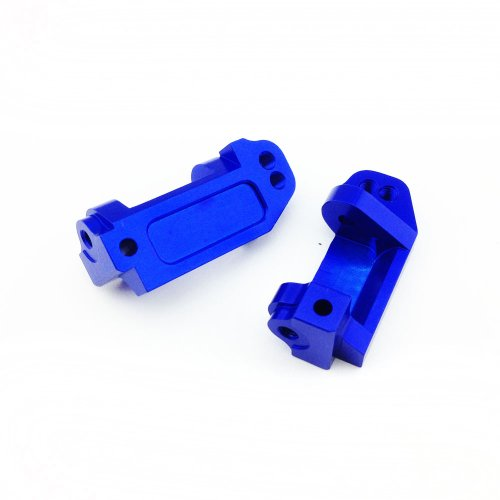 Atomik RC Alloy Caster Block, Blue fits the Traxxas 1/10 Slash and Other Traxxas Models - Replaces Traxxas Part 3632 (Traxxas Aluminum Caster Blocks)