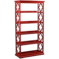 Powell 14A8082BCR Turner Bookcase, Red
