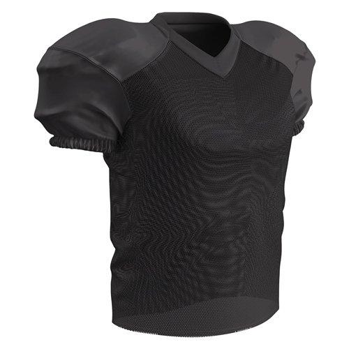 Jersey Football Practice - CHAMPRO Adult Stretch Polyester Practice Football Jersey, Black, Medium